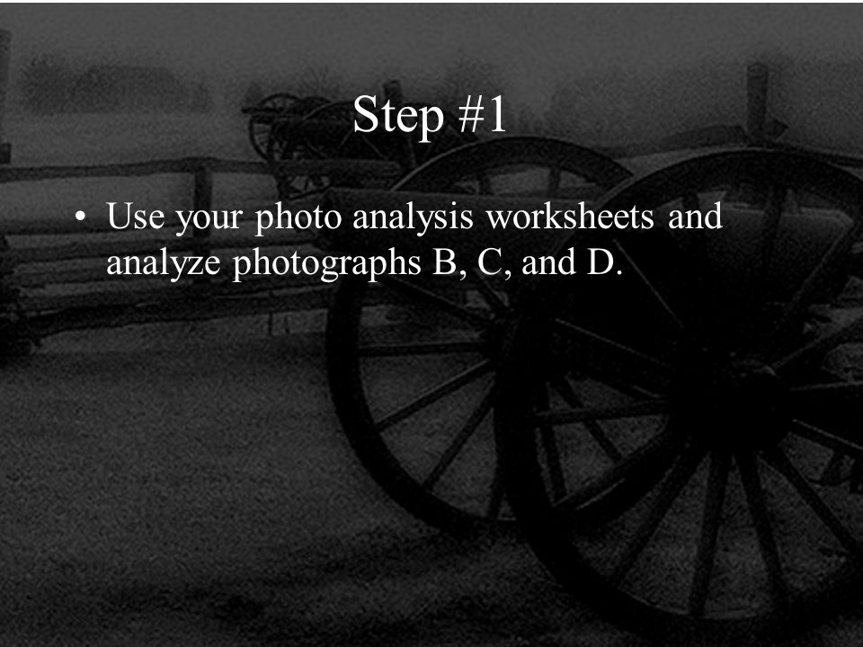 Printable Worksheets step 1 worksheets : The Life of a Civil War Soldier. Step #1 Use your photo analysis ...