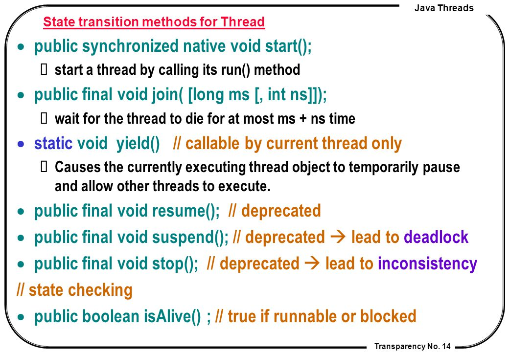 java programming transparency no 1 lecture 7 java threads cheng