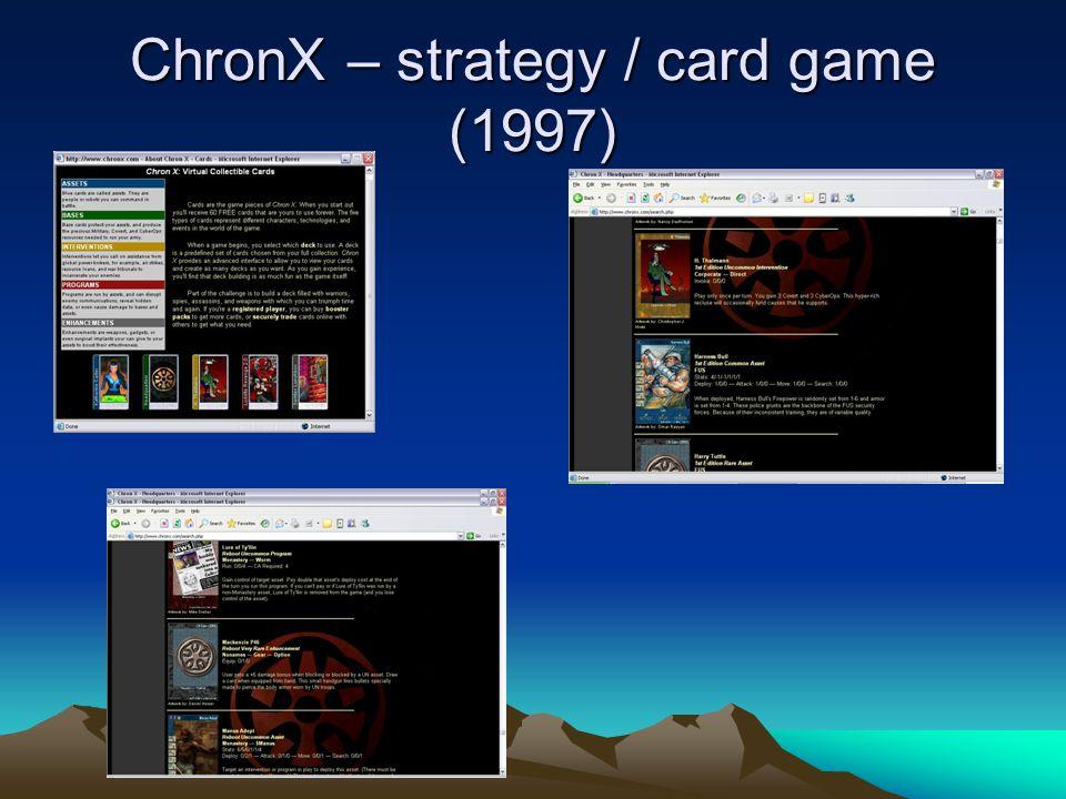 ChronX – strategy / card game (1997)