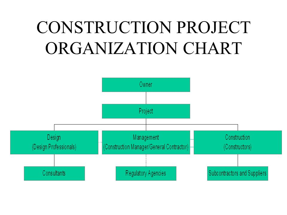 Project Organization Chart For Construction  Mydrlynx