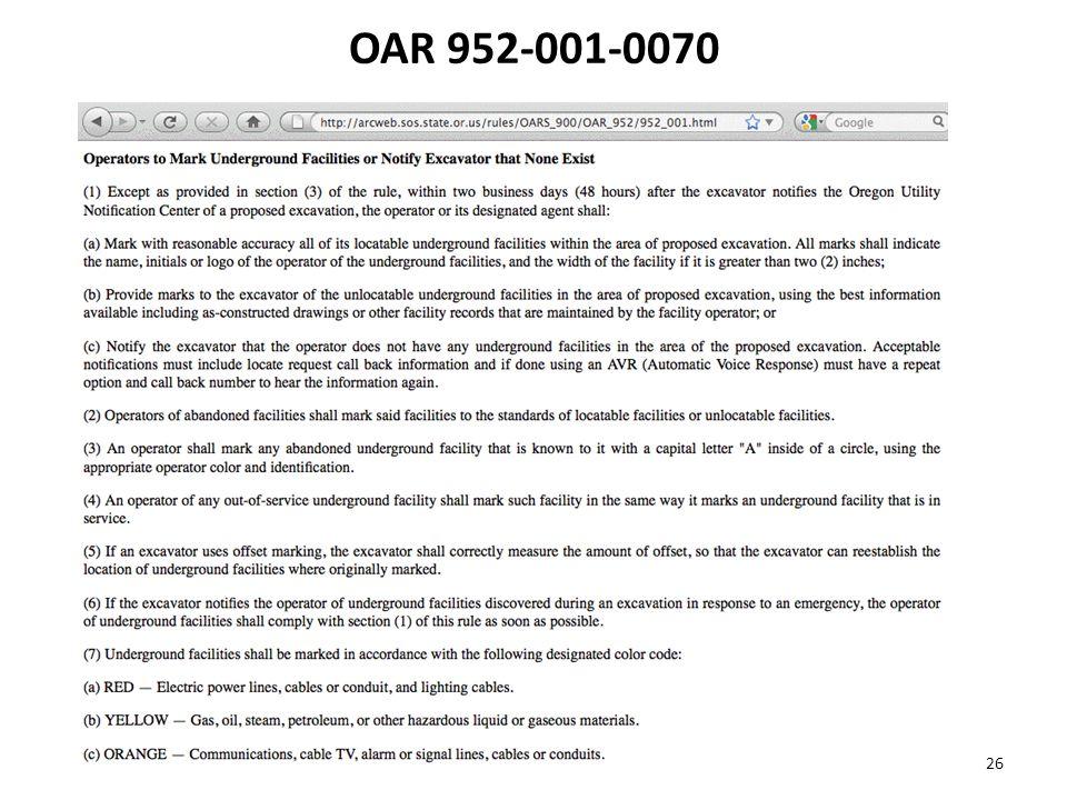OAR 952-001-0070 26