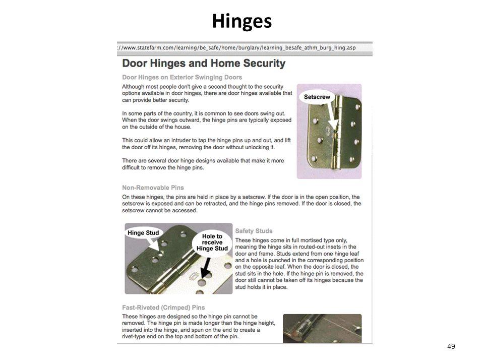 Hinges 49