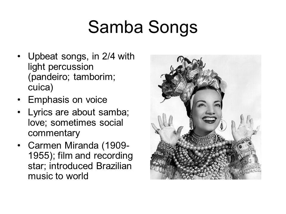 "Lyric brazil song lyrics : Popular Music of Brazil: Samba. Samba ""Tudo acaba em samba"" Afro ..."