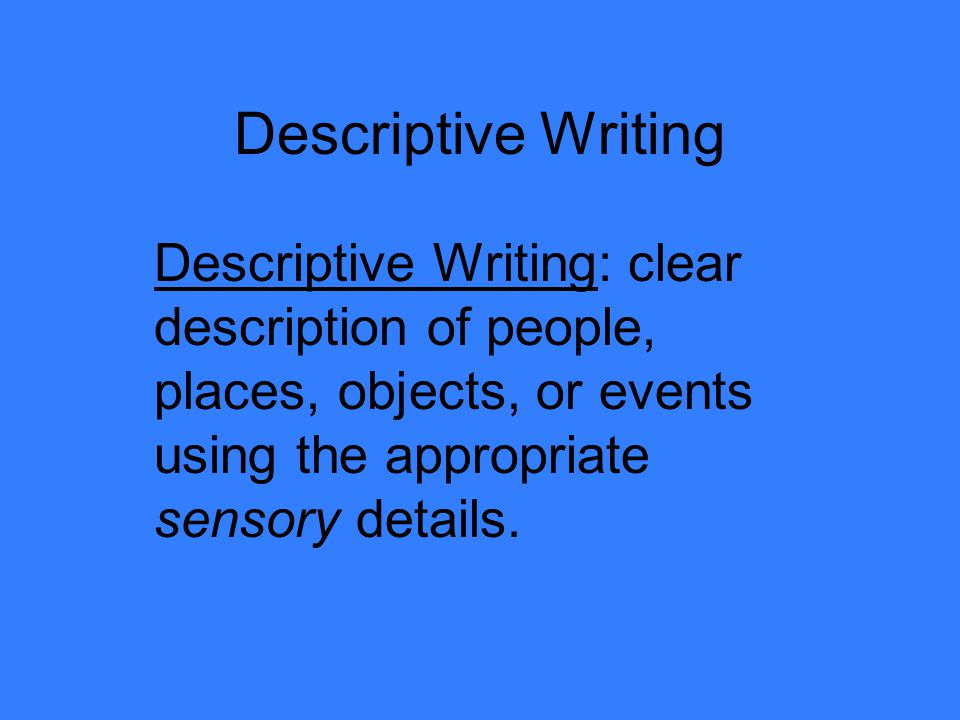Description Of A Place Essay