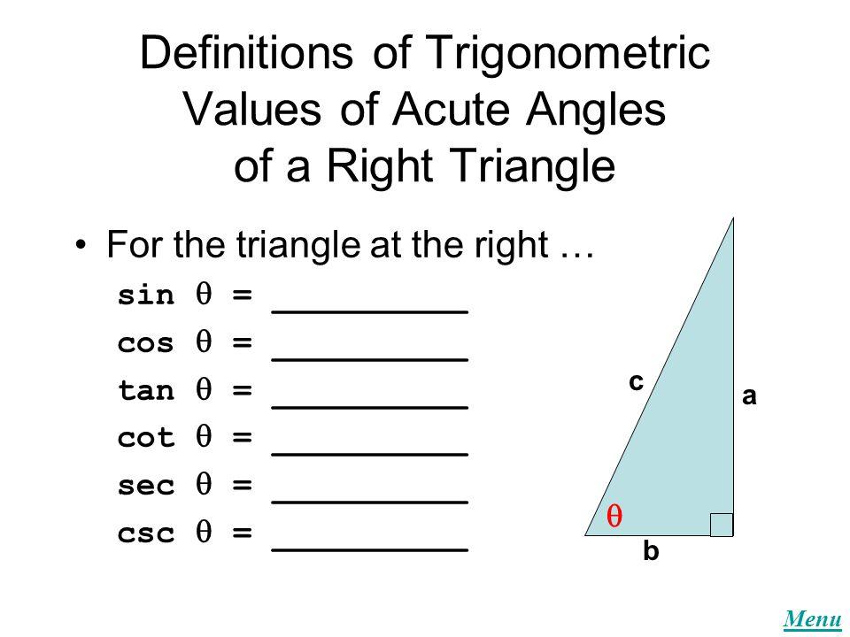 Menu Trigonometry Quizzes Quiz #1 Quiz #2 Quiz #3 Quiz #4 Quiz #5 ...
