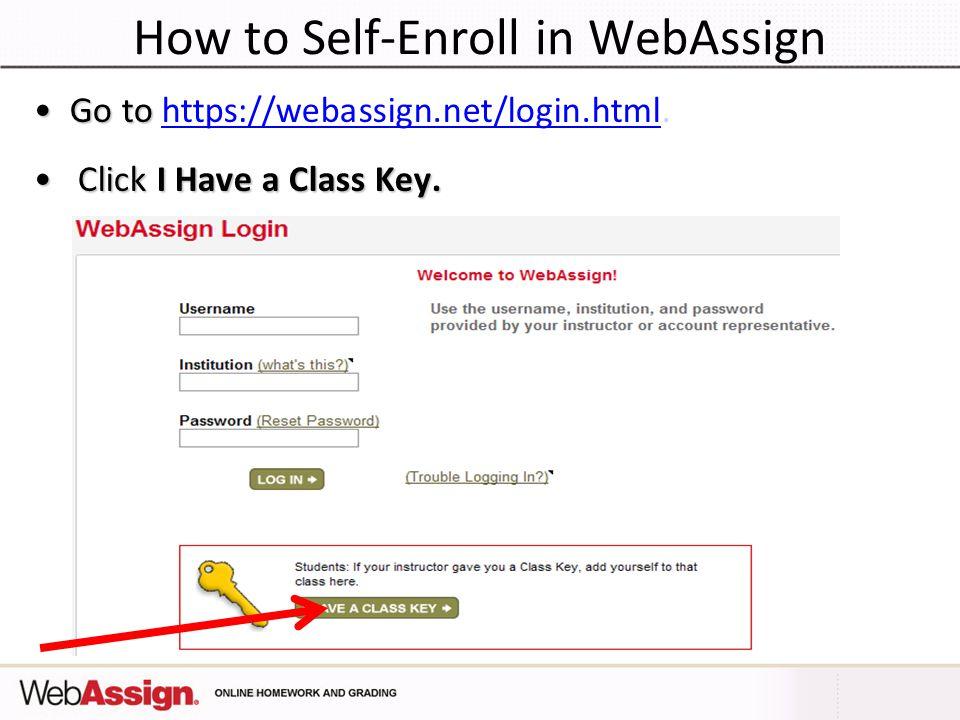 Web assign login