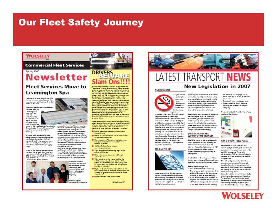 Our Fleet Safety Journey