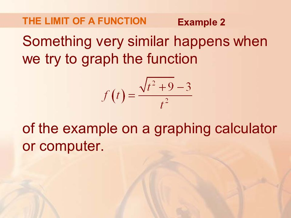 Something very similar happens when we try to graph the function of the example on a graphing calculator or computer.