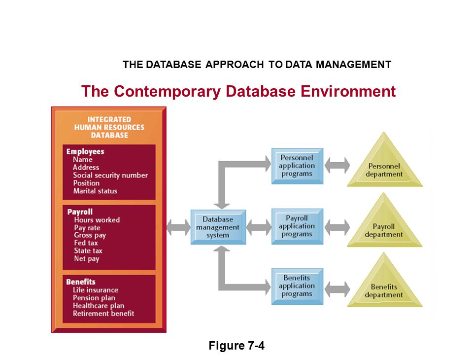 The Contemporary Database Environment THE DATABASE APPROACH TO DATA MANAGEMENT Figure 7-4