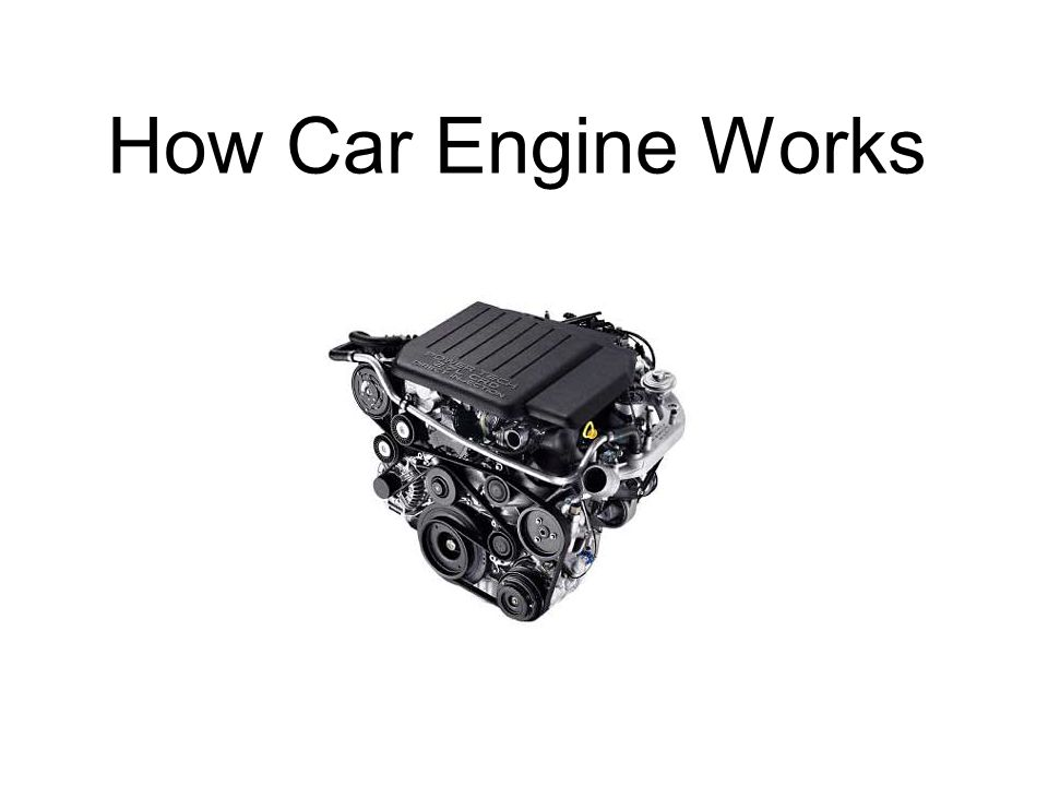 How Car Engine Works. Training Norms Car Engine Layout - Car Engine ...