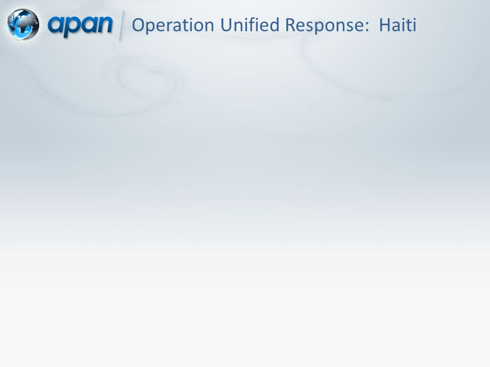 Operation Unified Response: Haiti