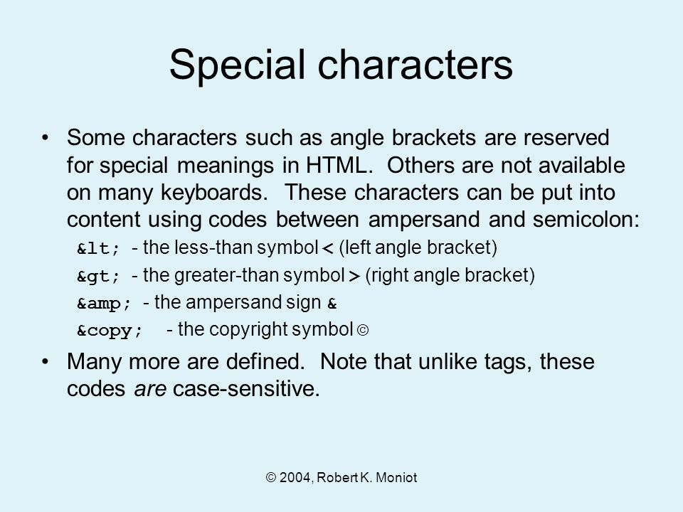 2004 Robert K Moniot Chapter 4 Introduction To Html Ppt Download