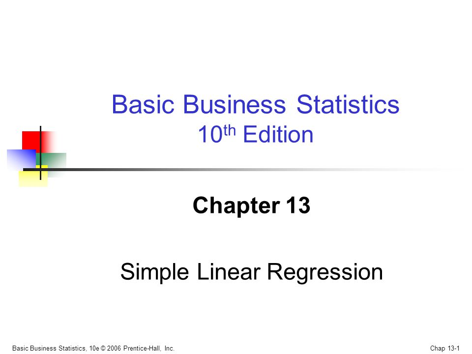 Basic Business Statistics, 10e © 2006 Prentice-Hall, Inc.
