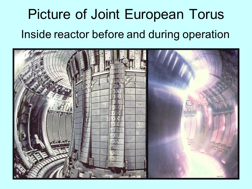15 Picture of Joint European Torus Inside reactor before and during operation