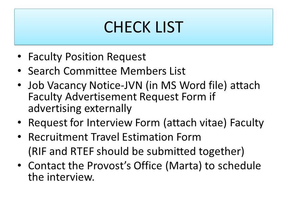 Faculty Position Request Form Department Chair Completes And