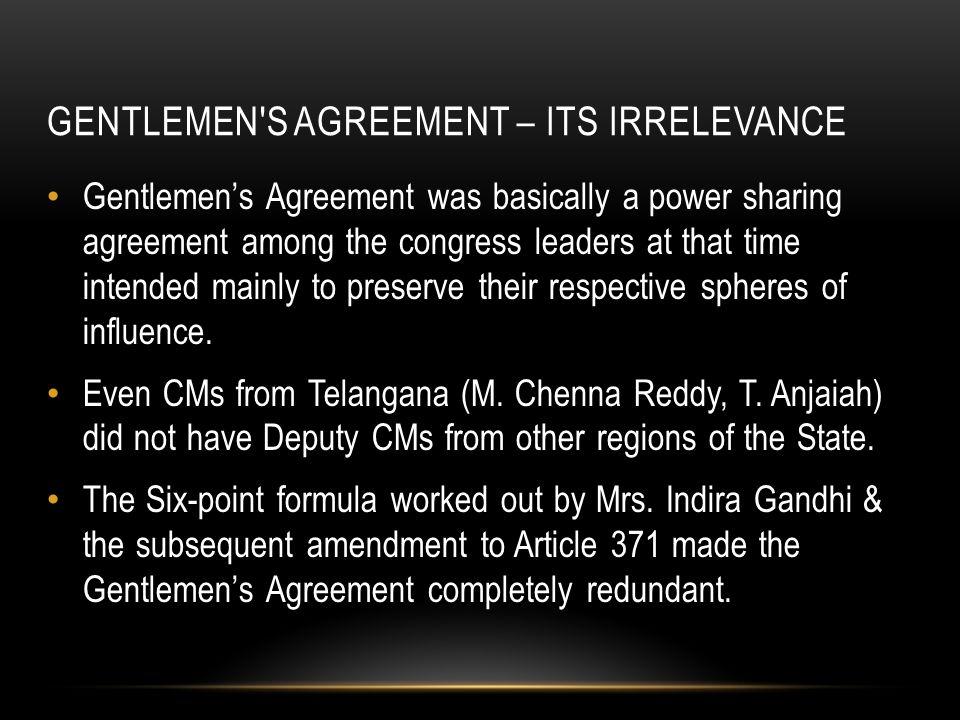 Unjust demand for telangana visalandhra mahasabha ppt download 60 gentlemens agreement platinumwayz