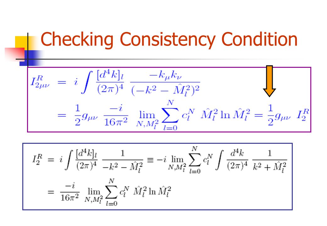 Checking Consistency Condition