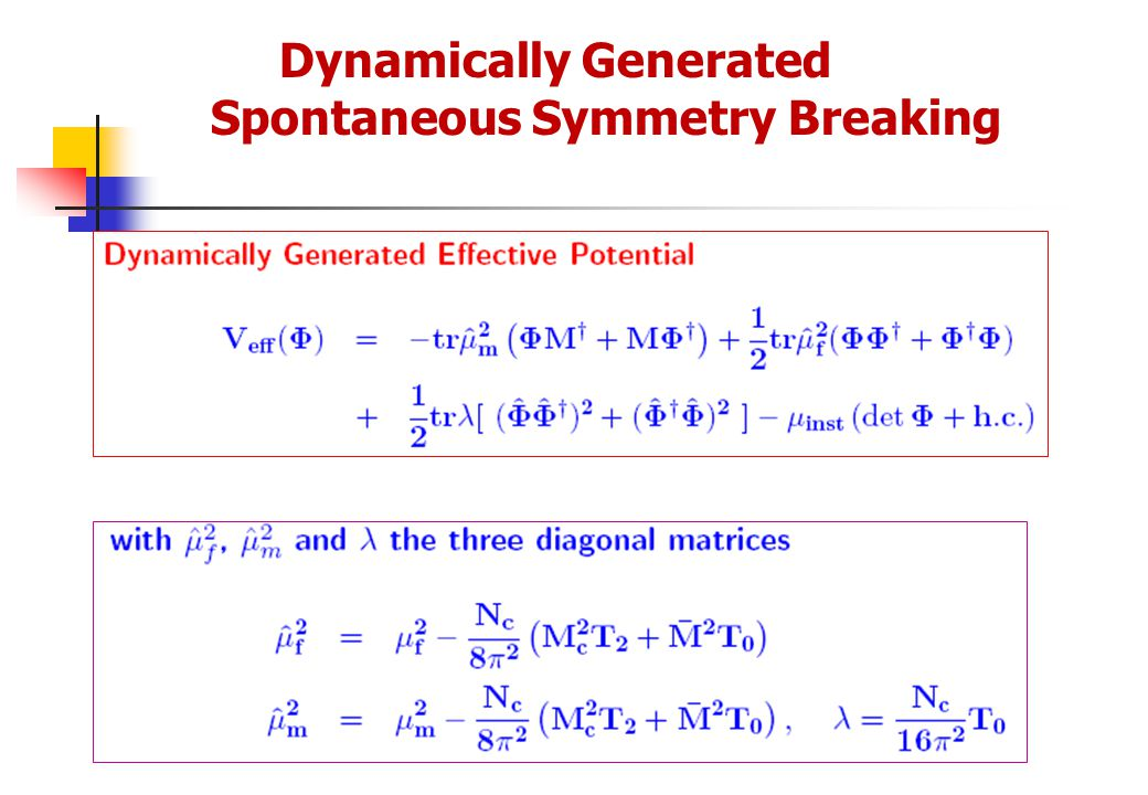 Dynamically Generated Spontaneous Symmetry Breaking
