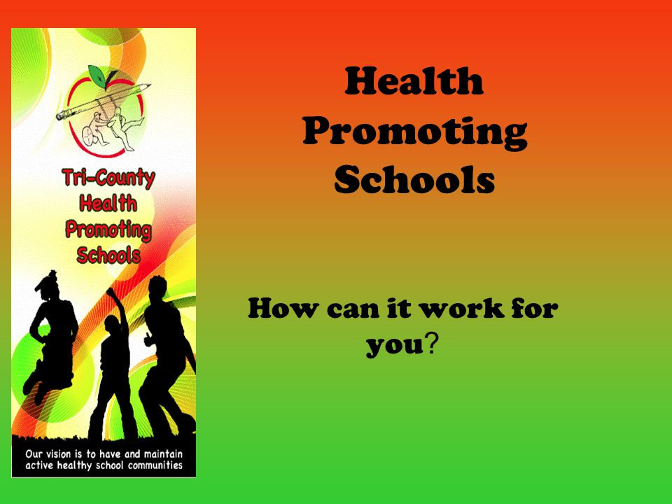 Health Promoting Schools How can it work for you