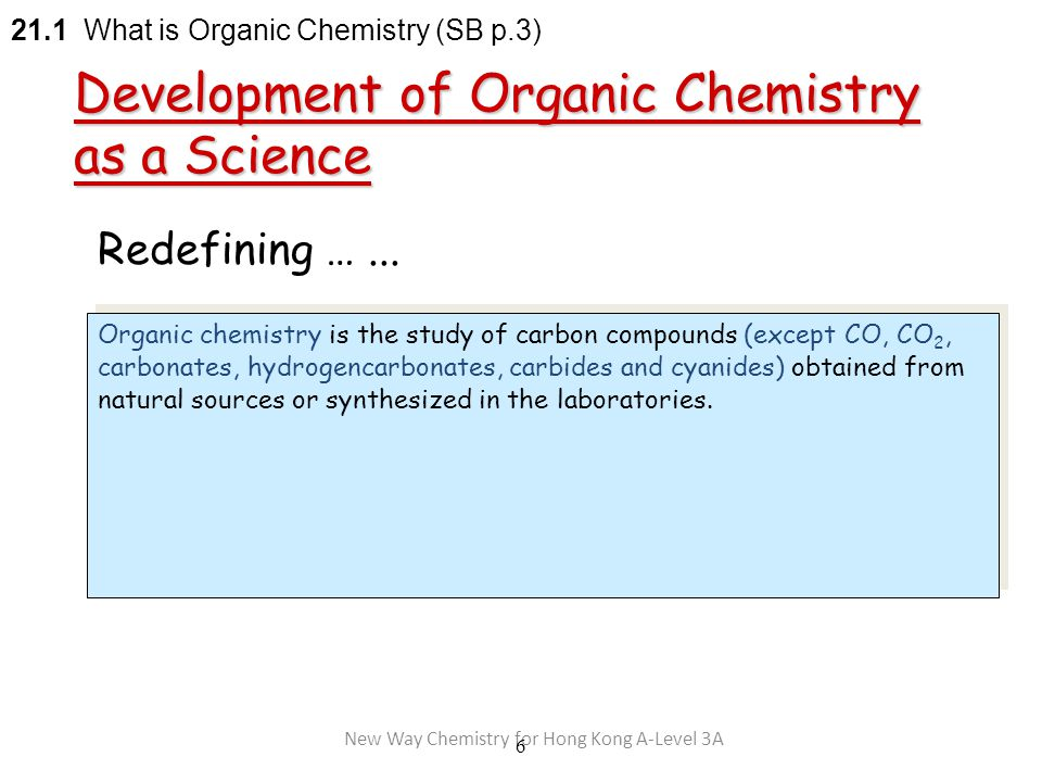 New Way Chemistry for Hong Kong A-Level 3A 6 Redefining …...