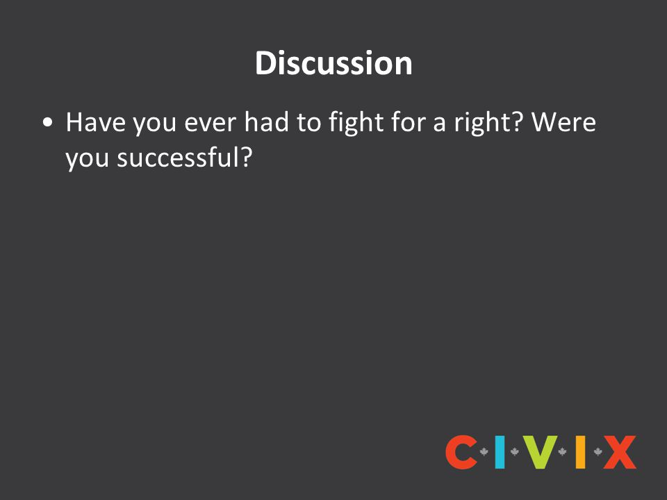 Discussion Have you ever had to fight for a right? Were you successful?