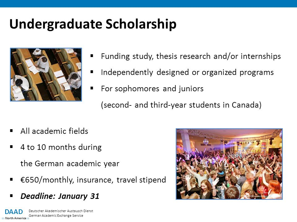 Scholarship for master thesis in germany