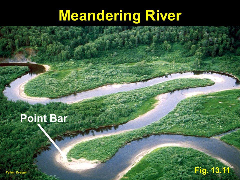 Fig. 13.11 Meandering River Point Bar Peter Kresan