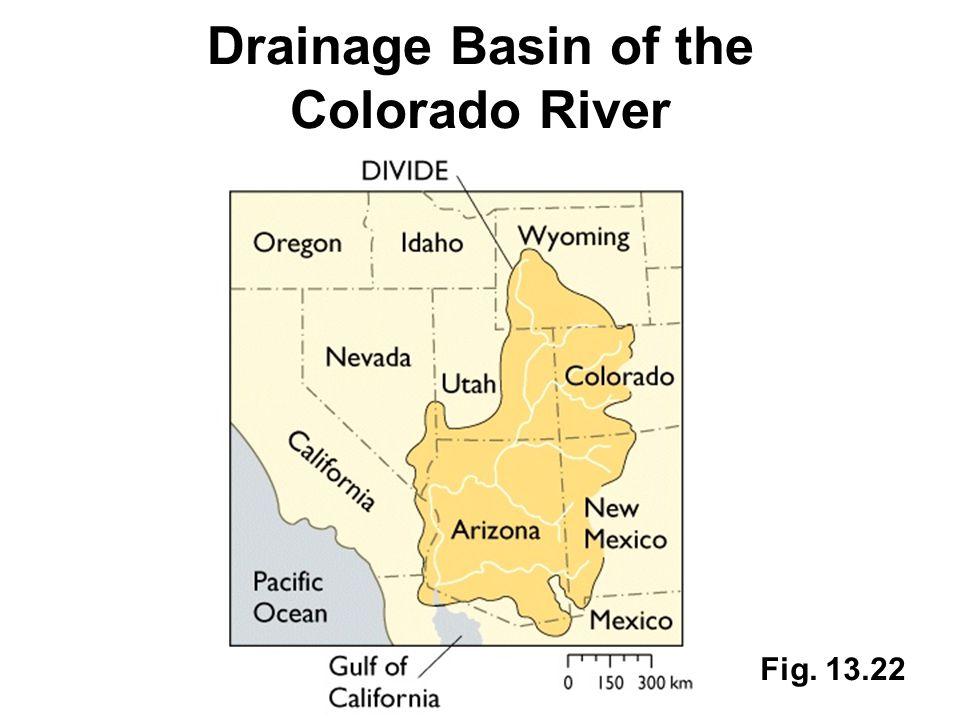 Fig. 13.22 Drainage Basin of the Colorado River