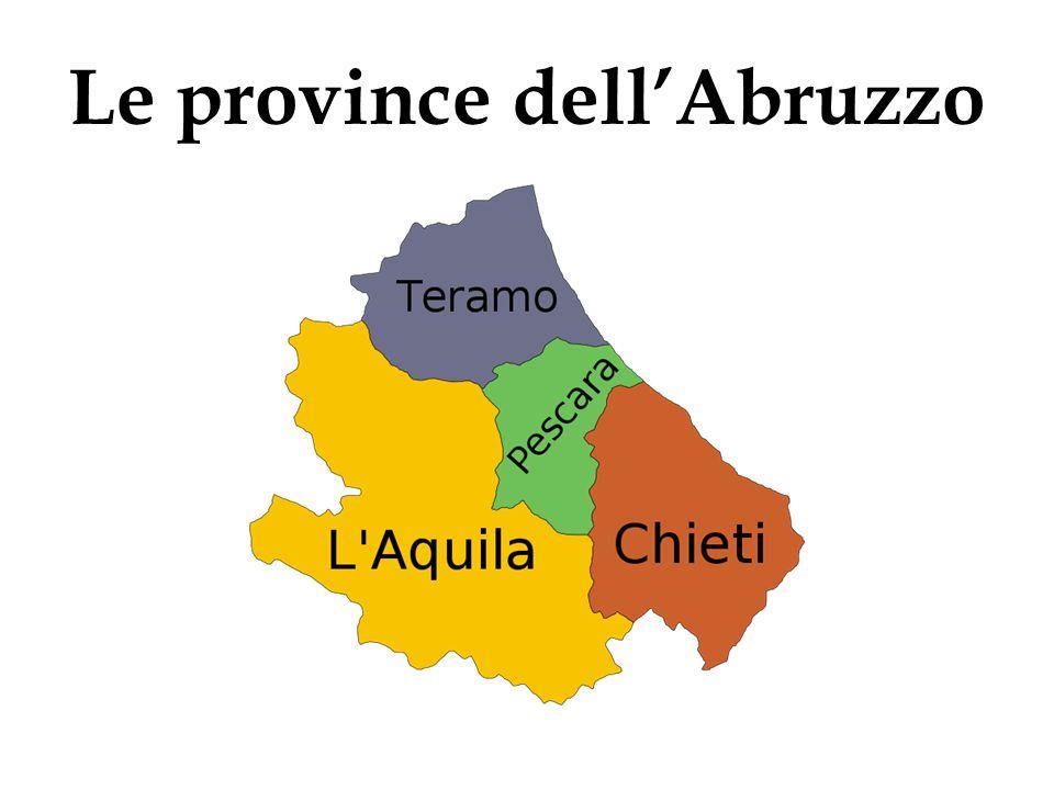 LItalia La carta dellItalia LAbruzzo Capital LAquila Area