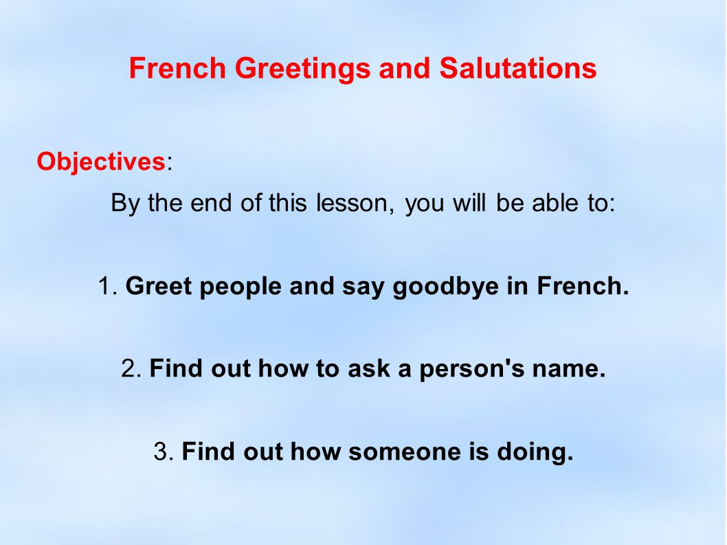 Greetings people in french french greetings and salutations 2 french greetings and salutations m4hsunfo Choice Image