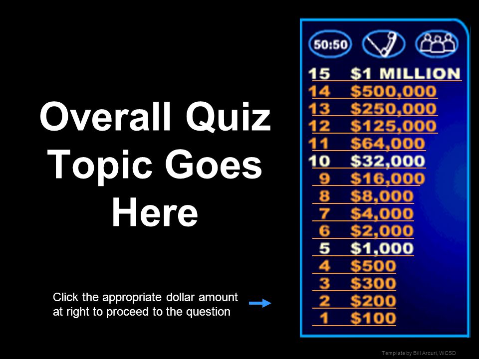templatebill arcuri, wcsd who wants to be a millionaire? - ppt, Powerpoint templates