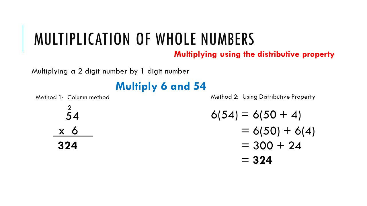 Worksheet Numbers That Multiply To 30 r 5 multiplication with whole numbers and area catherine conway of multiplying a 2 digit number by method 1