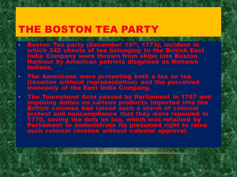 boston tea party english