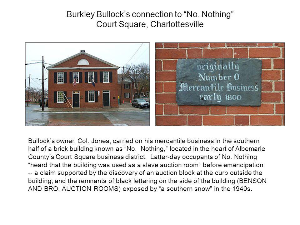 Bullock's owner, Col.