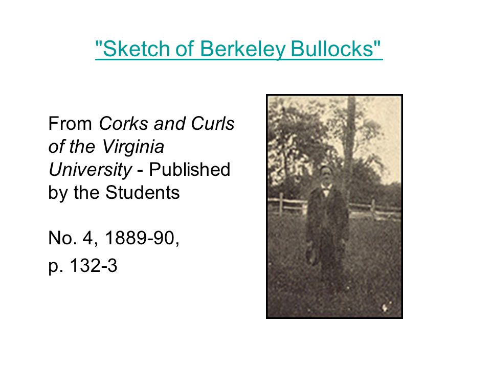 From Corks and Curls of the Virginia University - Published by the Students No.