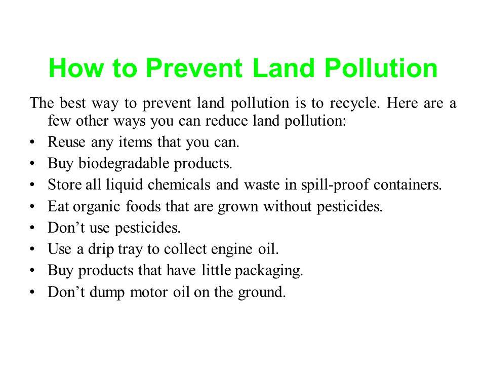 prevent pollution