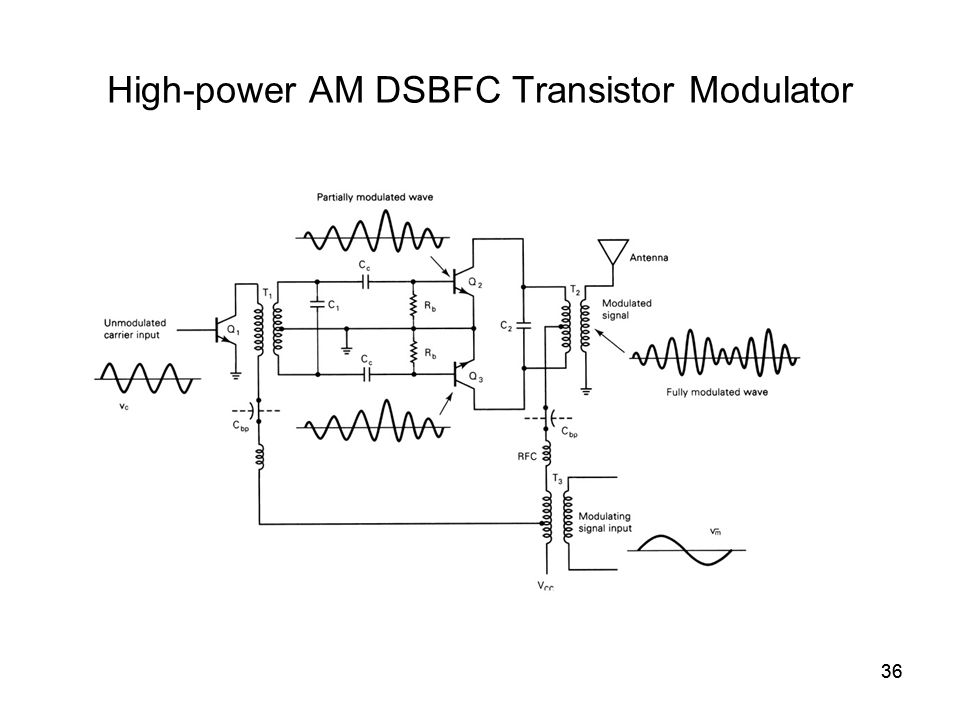 36 High-power AM DSBFC Transistor Modulator 36