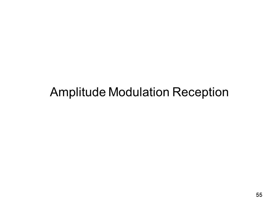 55 Amplitude Modulation Reception 55