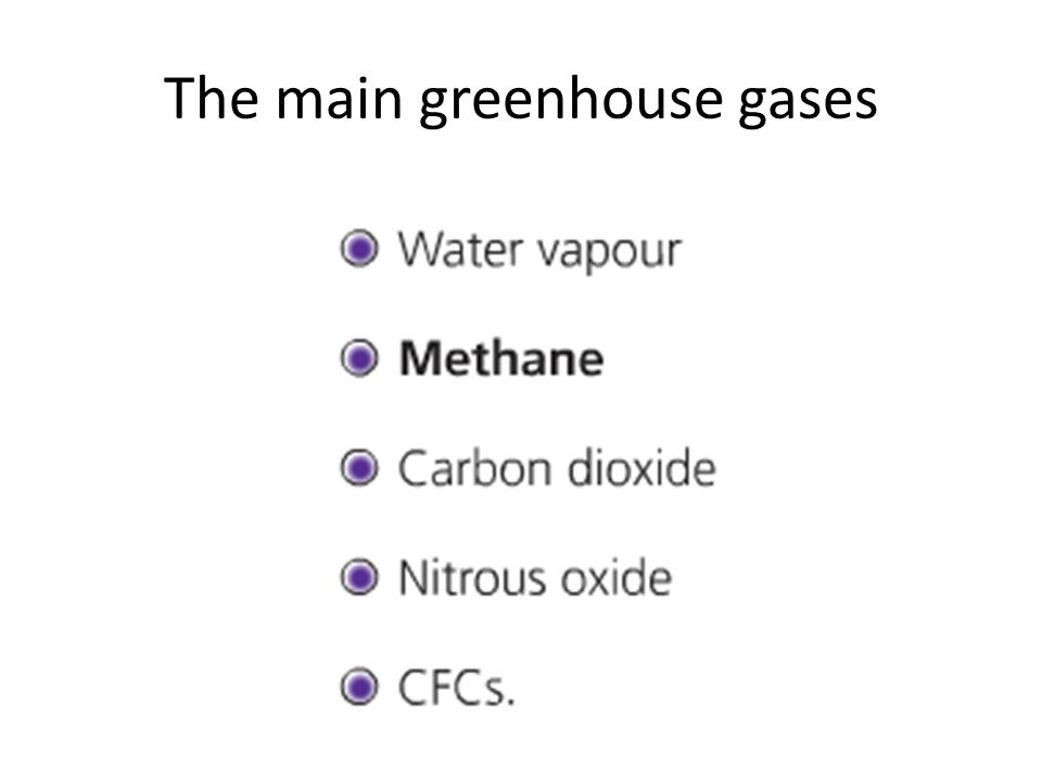 The main greenhouse gases