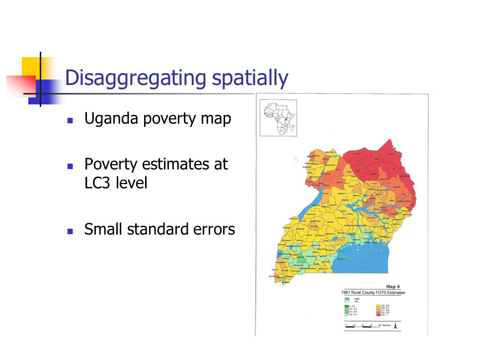 CensusBased Welfare Estimates For Small Populations Poverty And - Uganda map hd