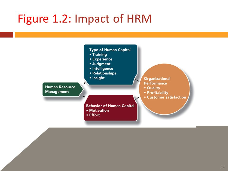 1-7 Figure 1.2: Impact of HRM