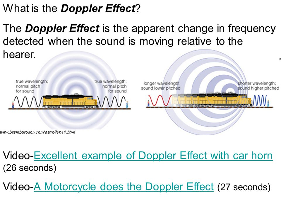 What is the Doppler Effect.