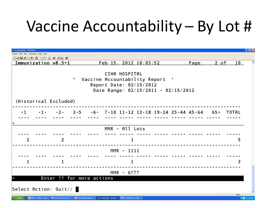 Vaccine Accountability – By Lot #