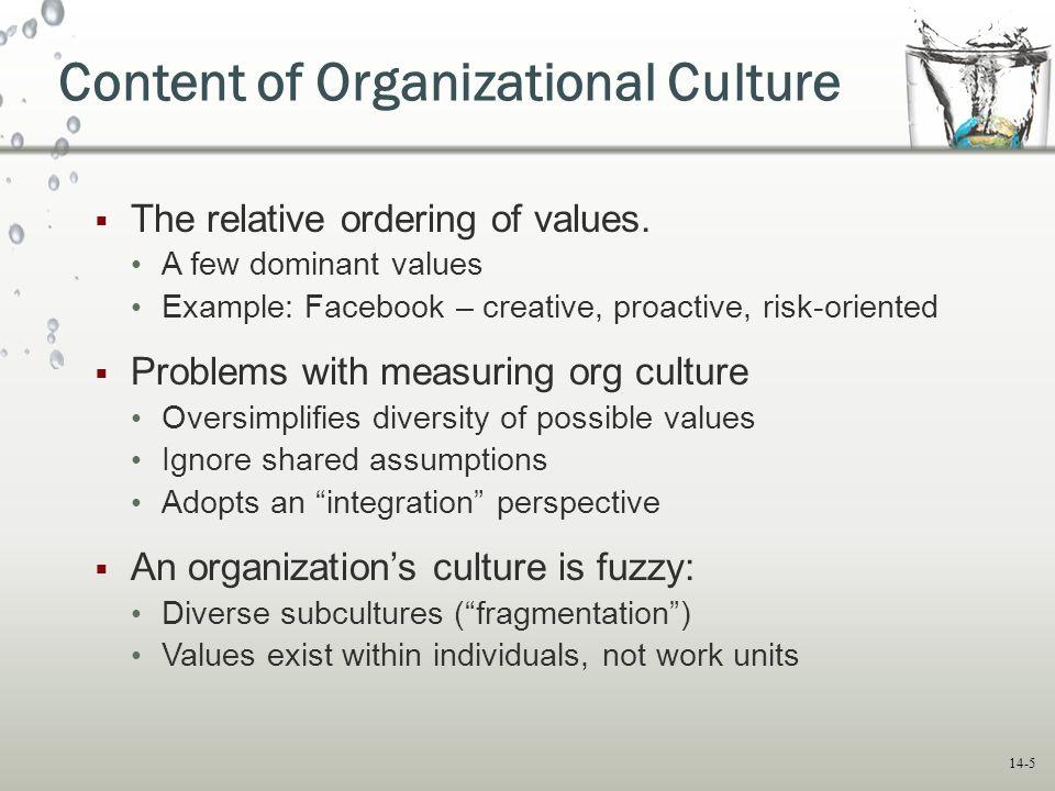 Facebook Organizational Culture of Organizational Culture