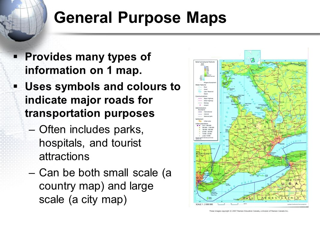 geography of canada types of maps ppt download