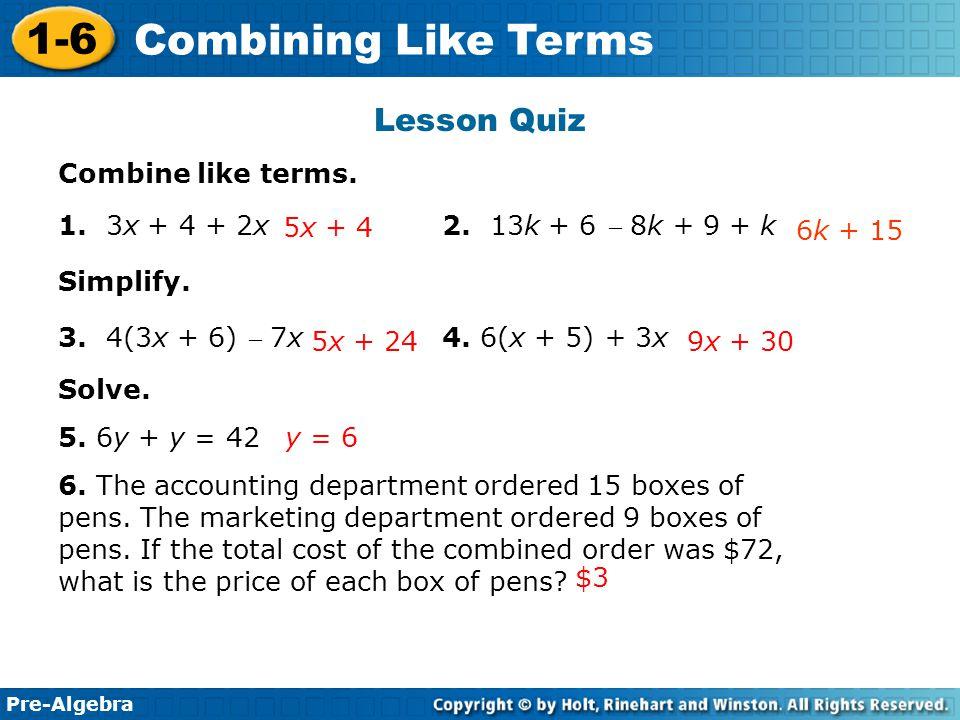 Pre algebra worksheets grade 7