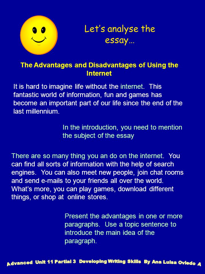writing an essay discussing advantages and disadvantages of  the advantages and disadvantages of using the internet it is hard to imagine life out the