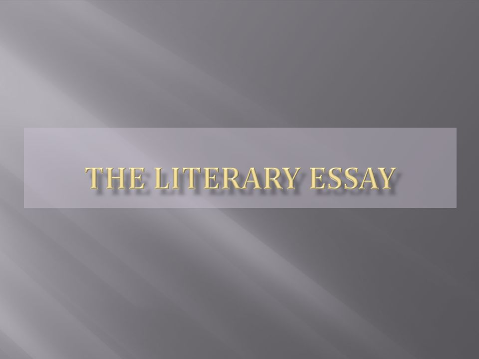 Essay is