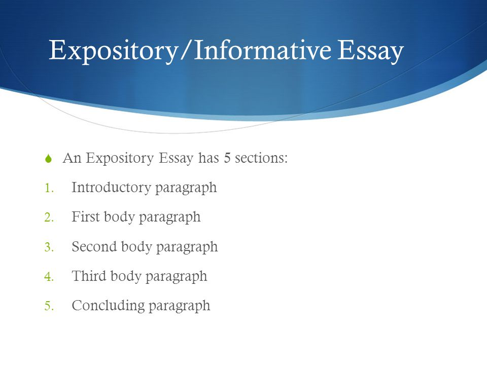 Good Expository Essay
