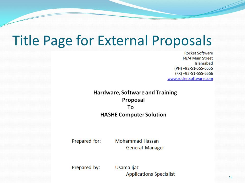 1 Outline Need Of A Proposal (Why Do We Need A Proposal